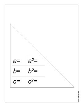 Spanish - English Pythagorean Problems Worksheet