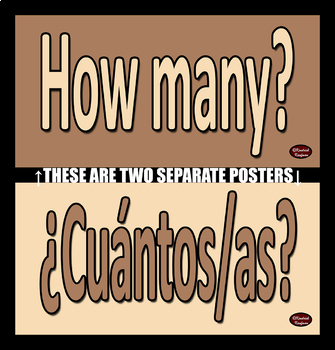 Spanish & English Question Words/Interrogatives Word Wall Posters