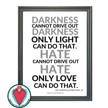 Dr. Martin Luther King Quote - English Spanish Poster