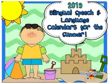 (Spanish & English) Speech & Language Calendars for the Summer!