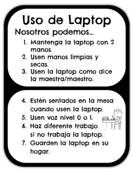 Spanish & English Technology Use Signs