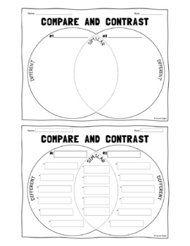 Spanish English Venn Diagram Compare Contrast Worksheets Tpt
