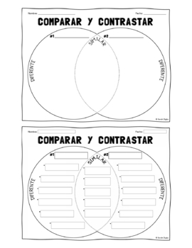 Venn diagrams in english all kind of wiring diagrams spanish english venn diagram compare contrast worksheets tpt rh teacherspayteachers com venn diagram example in english ccuart Images