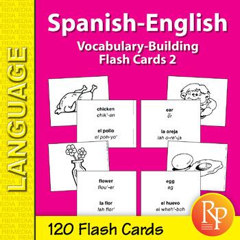 Spanish-English Vocabulary-Building Flash Cards 2