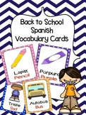 Spanish/ English Vocabulary Cards (Back to School Bundle)