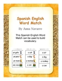 Spanish English Word Match