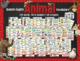 Spanish English Word Wall - Animal Vocabulary