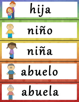 Spanish-English Word Wall Set