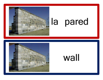 Spanish/English Word Walls
