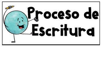 Spanish & English Writing Process Posters