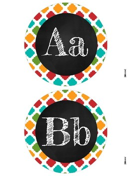 Spanish/English alphabet letters