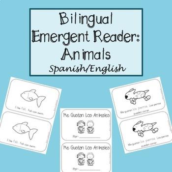 Spanish & English bilingual emergent reader - Animals