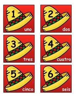 Spanish/English calendar numbers!
