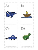 Spanish-English cognate alphabet flash cards - images only