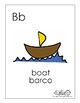 Spanish English cognate alphabet wall cards (with bilingual labels)