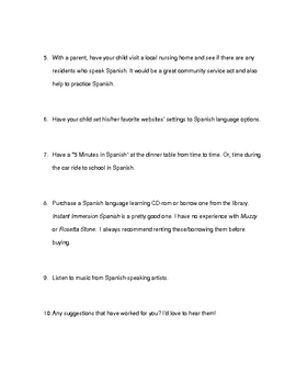 Spanish Enrichment Ideas Ideas for Gifted Students