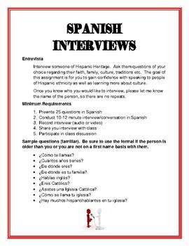 Spanish Entrevistas (Interviews)