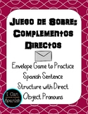 Spanish Envelope Game with Complementos Directos /  Direct