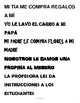 Spanish Envelope Game with Complementos Indirectos /  Indi