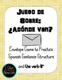 Spanish Envelope Game with the Verb Ir /  Juego de sobre: Ir
