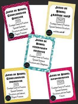 Spanish Envelope Games: Bundle of 5