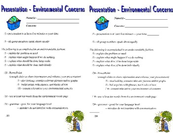 Spanish Environmental Vocabulary and Project