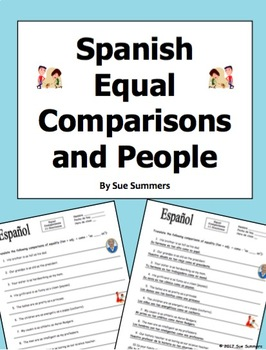 Spanish Equal Comparative Adjectives Tan Como with People Nouns
