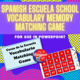 Spanish Escuela School Vocabulary Memory Matching Game for