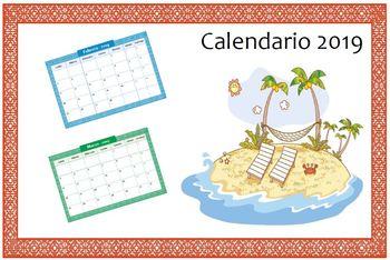 Spanish / Español Bundle-> Calendario 2019. Meses del año. Días de la semana! :)