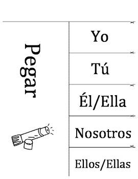 Spanish (Español) Language Development - Conjugate Verbs Interactive Notebook