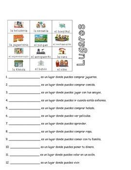 Spanish (Español) Language Development - Places and the Verb Estar