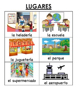 Spanish (Español) Language Development - Places and the Verb Ir