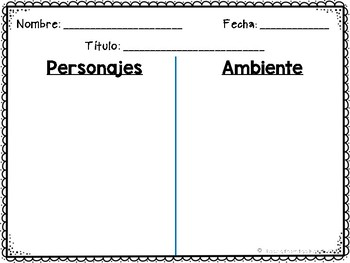 SPANISH ESPAÑOL STORY ELEMENTS {FREEBIE}
