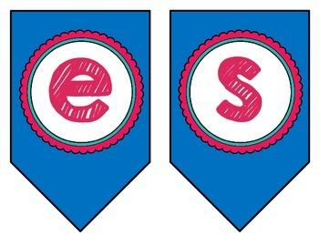 Spanish / Español 1, 2, 3, & 4 Class Banner