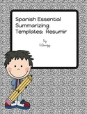 Spanish Essential Summarizing Templates