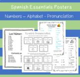 Spanish Essentials Posters - Alphabet - Numbers - Pronunciation