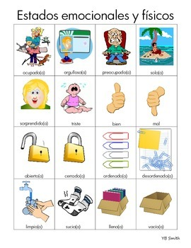 Spanish Estar Adjective PICTURE Notes SET