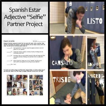 "Spanish Estar Adjective ""Selfie"" Project"