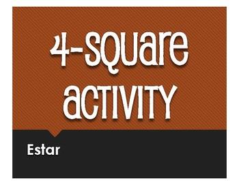 Spanish Estar Four Square Activity