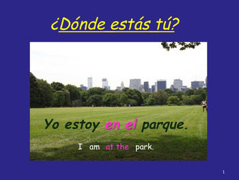 Spanish Estar + Places and Emotions PowerPoint