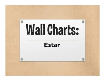 Spanish Estar Wall Charts