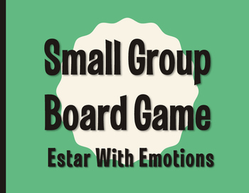Spanish Estar With Emotions Board Game