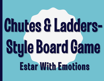 Spanish Estar With Emotions Chutes and Ladders-Style Game