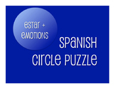 Spanish Estar With Emotions Circle Puzzle