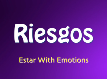 Spanish Estar With Emotions Jeopardy-Style Review Game