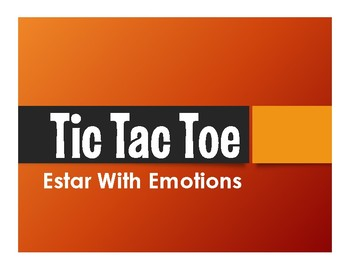 Spanish Estar With Emotions Tic Tac Toe Partner Game