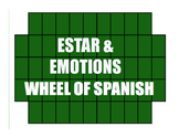 Spanish Estar With Emotions Wheel of Spanish