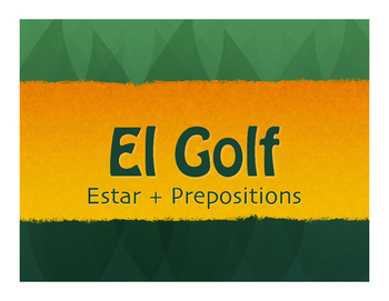 Spanish Estar With Prepositions Golf