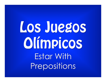 Spanish Estar With Prepositions Olympics