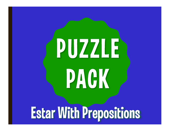 Spanish Estar With Prepositions Puzzle Pack